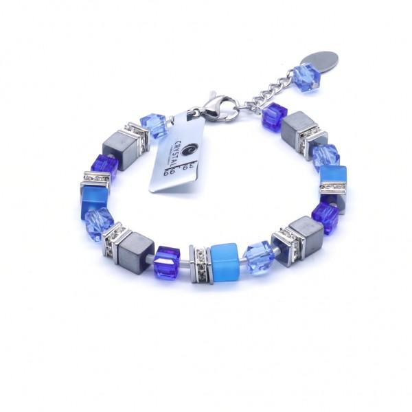 Armband Quadratto – blau