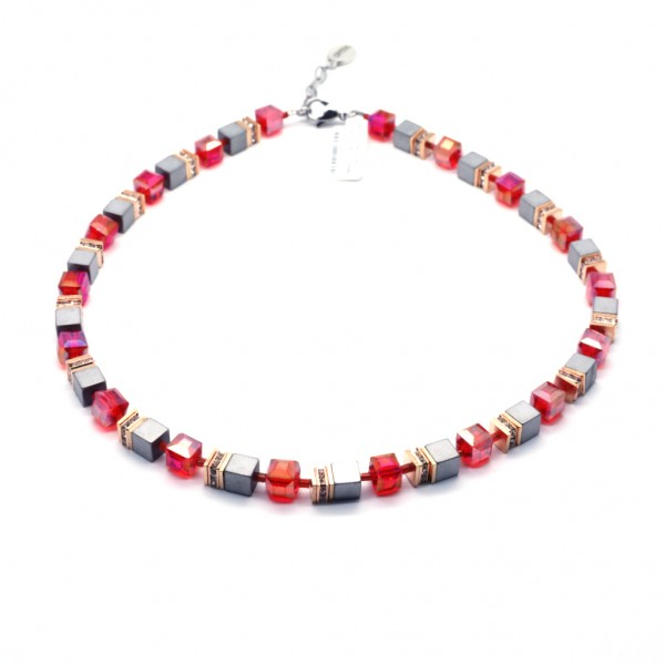 Collier Quadratto – rot