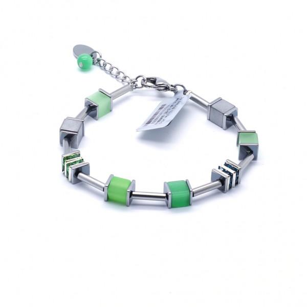 Armband Quadratto – grün