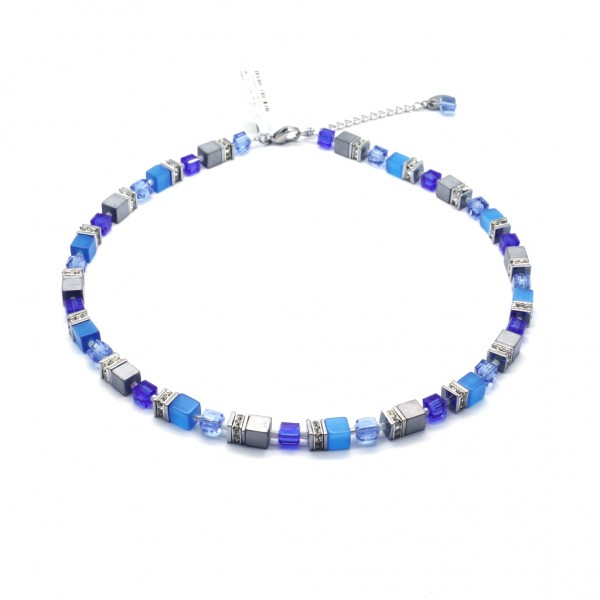 Collier Quadratto – blau